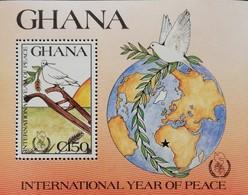 Ghana 1987 International Year Of Peace S/S - Ghana (1957-...)