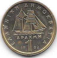 *greece 1 Drachme  1982  Km 116   BU - Grèce