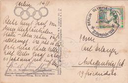 Germany 1936 Olympic Games  Postcard The Stadium , Special Postmark - Summer 1936: Berlin