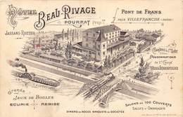 PIE.LOT T-19-5037 : VILLEFRANCHE SUR SAONE. HOTEL BEAU RIVAGE. PROPRIETAIRE POURRAT. - Villefranche-sur-Saone
