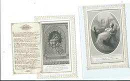 2 Images Pieuses-L'Alleluia Eternel Et Divin Prisonnier - Images Religieuses