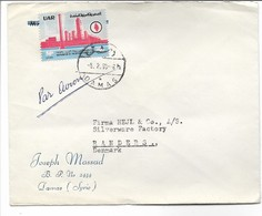 Syria - Airmail. Cover Sent To Denmark. H-401 - Syria