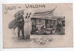 ALBANIA / ALBANIE - SALUTI DA VALONA - VENDITORI DI TABACCO - Albania