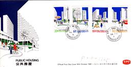 Hong Kong 1981 Public Housing FDC - Hong Kong (1997-...)