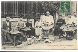 64-SALIES-DE-BEARN-Groupe De Sandaliers... 1911  Animé - Salies De Bearn