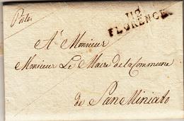 Francesi In Italia, Periodo Napoleonico. Firenze Per San Miniato, Administration Des Postes. Lettera Con Contenuto 1808 - Post