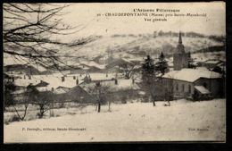 51 - CHAUDEFONTAINE (Marne) - Vue Générale Sous La Neige - Prés De Sainte Ménéhould - L'Argonne Pittoresque - Autres Communes