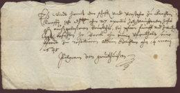 1645 Quittung über 25 Gute Groschen An Herren Beeck - Historische Dokumente