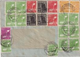 ALLEMAGNE ZONE AAS 1948 LETTRE DE OSNABRÜCK - Gemeinschaftsausgaben