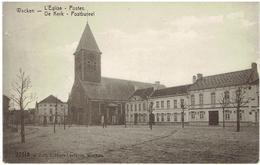 WACKEN - Dentergem - De Kerk - Postbureel - L' Eglise - Postes - Feldpost 1917 - Munitions Kolonne Nr 13 - Dentergem