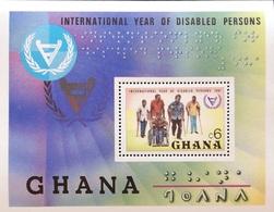 Ghana 1982 Intl. Year Of The Disabled S/S - Ghana (1957-...)