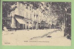 NYONS : Champs De Mars Et Avenue Paul Laurens. 2 Scans. Edition Roubin - Nyons