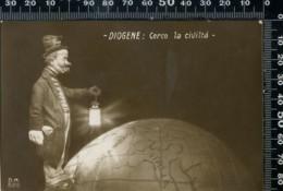 MH 03 - 1° GUERRA MONDIALE - DIOGENE:: CERCO LA CIVILTA - D.M.528 - NON CIRCOLATA - Humoristiques