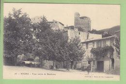 NYONS : Tour Carrée De Bandonne. Tampon Pharmacie Perraud à Nyons. Dos Simple. TBE. 2 Scans. Edition Brun - Nyons