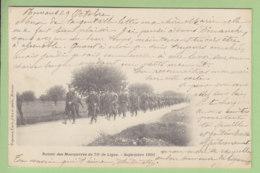 ROMANS : Retour De Manoeuvres Du 75e De Ligne, Septembre 1901. Dos Simple. 75e Régiment D'Infanterie. 2 Scans. Ed Carle - Romans Sur Isere