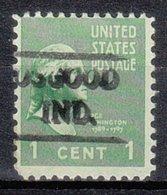 USA Precancel Vorausentwertung Preo, Locals Indiana, Osgood 479 - Vorausentwertungen