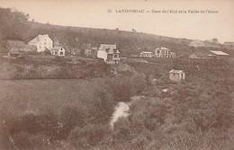 Rare Cpa Landivisiau Gare De L'état Et Vallée De L'Elorn - Landivisiau