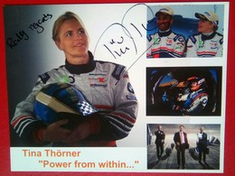 Tina Thorner Signed Card - Authographs