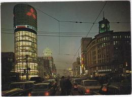 Tokyo: TOYOTA PUBLICA, CROWN '63, 'MITSUBISHI' NEON - Nighttime Ginza - (Japan/Nippon) - 1961 - Toerisme