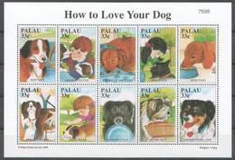 M703 1999 PALAU PETS HOW TO LOVE YOUR DOG 1KB MNH - Cani