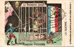 LE DOMPTEUR DOMPTE MENAGERIE PRUSSIENNE ILLUSTRATION SIGNEE METTEIX - Patriotiques