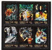 TNT183 DÄNEMARK - FÄRÖER 2001  Michl 396/01 SATZ Used / Gestempelt SIEHE ABBILDUNG - Färöer Inseln