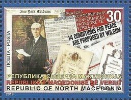 MK 2019-10 100A°versailles Konferenz, NORTH MACEDONIA, 1 X 1v, MNH - Macedonia
