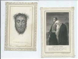 2 Images Pieuses -Le Retour Du Calvaire Et Son Amour Est Oublié - Images Religieuses