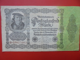 Reichsbanknote 50.000 MARK 1922 CIRCULER (B.1) - [ 3] 1918-1933 : Repubblica  Di Weimar