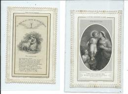 2 Images Pieuses -La Double Maternité De Marie Et Bonheur De La 5° Communion - Images Religieuses