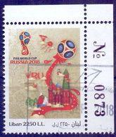 Used Lebanon 2018,Worldcup Football - Russia 2018 1V. - Lebanon