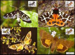 BULGARIA - BULGARIE - 2004 - Papillons - 4 Maximum Cards - Mariposas