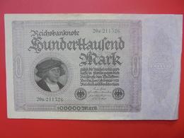 Reichsbanknote 100.000 MARK 1923 CIRCULER (B.1) - [ 3] 1918-1933 : République De Weimar