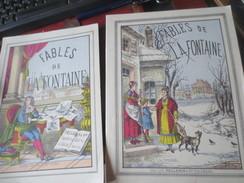 LES FABLES DE LA FONTAINE - IMAGERIE D'EPINAL - 2 VOLUMES - VOIR PHOTOS - French Authors