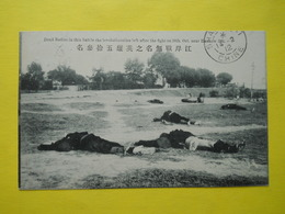 Chine,China ,Dead Bodies At Hankow 1911 ,from Shanghaï To Marseille 1912 - China