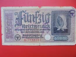 3eme REICH 50 MARK 1940-45+CONTRE-MARQUE CIRCULER (B.1) - 50 Reichsmark