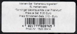 50 MH SWK 2002, Banderole Type I: Für 50 Marken-Sets - BRD