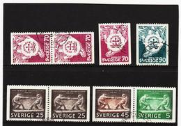 TNT199 SCHWEDEN 1968  Michl 612/13 + 618/20 Used / Gestempelt SIEHE ABBILDUNG - Schweden