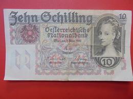 AUTRICHE 10 SCHILLING 1946 BONNE QUALITE CIRCULER (B.1) - Autriche