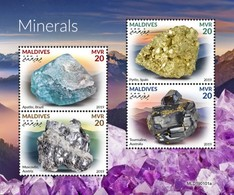 2019-05- MALDIVES - MINERALS         4V    MNH** - Minerals