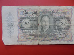 AUTRICHE 20 SCHILLING 1946 CIRCULER (B.1) - Autriche