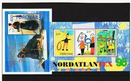 TNT201 DÄNEMARK - FÄRÖER 1996/97  Michl BLOCK 8/9 ** Postfrisch SIEHE ABBILDUNG - Färöer Inseln
