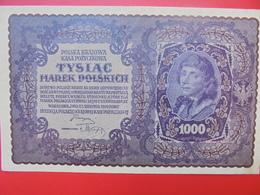 POLOGNE 1000 MAREK 1919 BELLE QUALITE CIRCULER (B.1) - Poland
