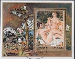 "Ajman 1971 Bf. 278A ""Le Bagnanti""  Quadro Dipinto Da P.A. Renoir Preoblt. Impressionismo Paintings Perf. - Ajman"