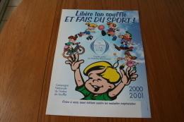 """Erinnophilie: Affiche 300x400mm  """"Libère Ton Souffle Et Fais Du Sport"""" - Commemorative Labels"""