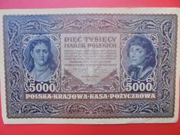 POLOGNE 5000 MAREK 1920 BELLE QUALITE CIRCULER (B.1) - Poland