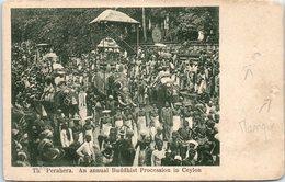 The Perahera. An Annual Buddhist Procession In Ceylon - Eléphants - Nus  (état : Manque) - Sri Lanka (Ceylon)