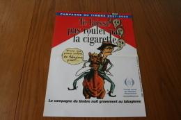 """Erinnophilie: Affiche 300x400mm  """"Te Laisse Pas Rouler Par La Cigarette"""" - Commemorative Labels"""