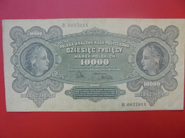 POLOGNE 10.000 MAREK 1922 BELLE QUALITE CIRCULER (B.1) - Polen