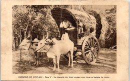 Missions De CEYLAN - Attelage - La Charrrette Des Longs Voyages Avec Toute Sa Batterie De Cuisine (état: Plis) - Sri Lanka (Ceylon)